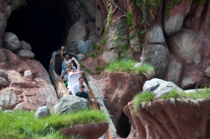 Riders descending Splash Mountain